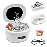 Ultrasonic Cleaner, Jewelry Cleaner Machine with 5 Digital Timer, 40KHz Powerful Ultrasonic Cleaner with 25 Ounces Tank for Cleaning Jewelry Rings Glasses Watches Shaver Heads Diamond Denture