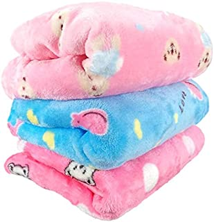 Uber World Baby Newborn (0-9 Months) AC Blanket Yellow Sherin & Poly Wool Pack of 3…