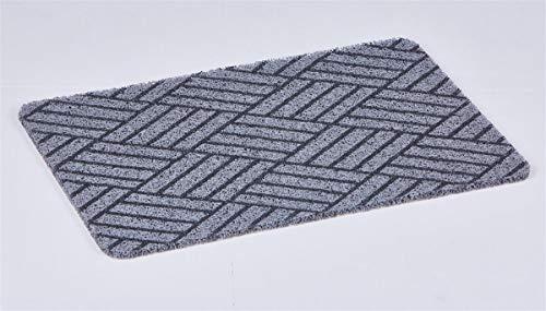 Euro Tische Fußmatte 60 x 40 cm rutschfest für Innen & Außen - Schmutzfangmatte in 6 verschiedenen Motiven für einen sauberen Eingangsbereich (Fliesen)