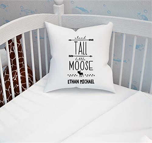 Yilooom Funda de almohada con nombre de alce, decoración de alce, funda de almohada de alce, funda de almohada de bosque, soporte alto, funda de almohada con nombre