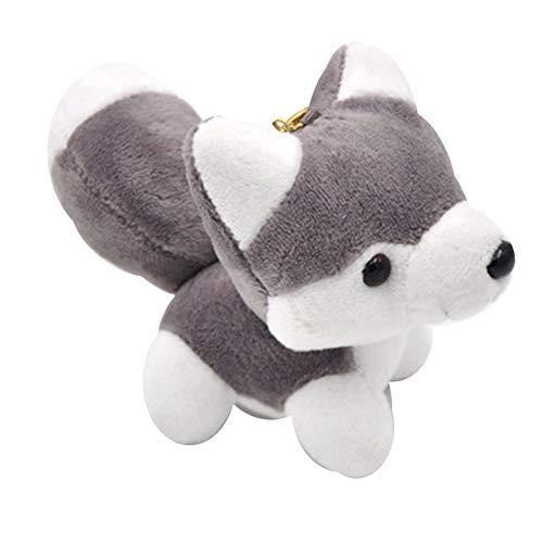 NAttnJf - Llavero con colgante de perro, diseño de muñecas, color gris