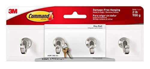 Command Key Rail, Quartz, 1-Rail, 6-Strips, Organize Damage-Free