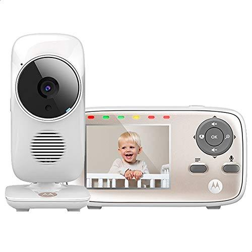 Motorola MBP667CONNECT Video-Babyphone mit 7,1 cm (2,8 Zoll) Handheld-Einheit und WLAN-Hubble-App für Smartphones und Tablets