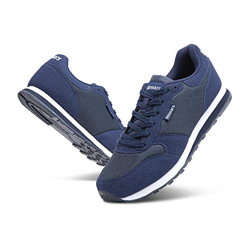 Zapatillas Hombre Mujer Casual Sneaker Gimnasio Cómodos Clásico Zapatos Deportivas Running Azul 2 Talla 43