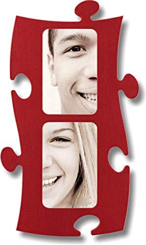 Puzzle Rahmen, 2 mal 10x15cm - rot
