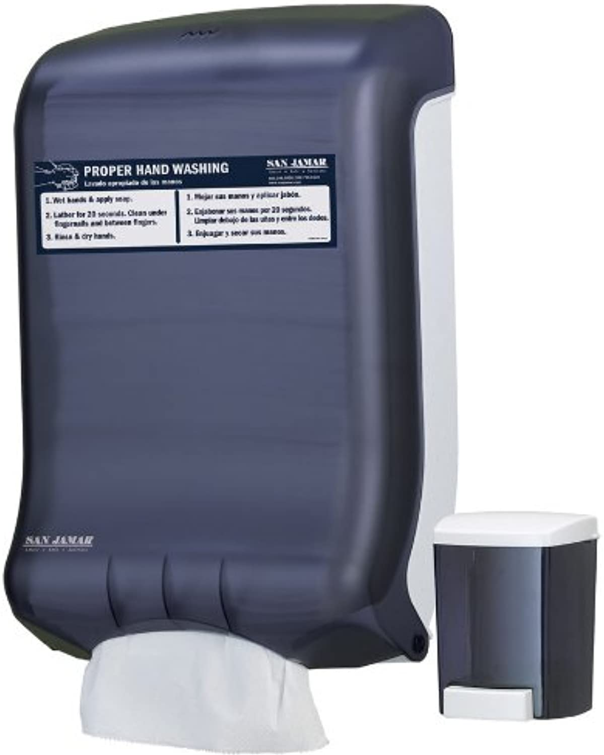 San Jamar T1730 Handwashing Station Value Pack, Black Pearl