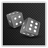 Impresionantes pegatinas cuadradas (juego de 2) 10 cm BW – Dice Casino Las Vegas juego calcomanías divertidas para portátiles, tabletas, equipaje, reserva de chatarras, neveras, regalo genial #36943