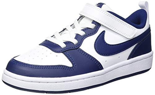 Nike Court Borough Low 2 (PSV), Zapatillas de bsquetbol, White Blue Void Signal Blue, 33 EU