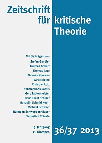Zeitschrift für kritische Theorie: 19. Jahrgang, Heft 36/37 · 2013