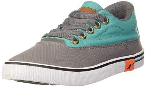 Sparx Men's Grey Mint Green Canvas Sneakers-7 UK (SC0322G)