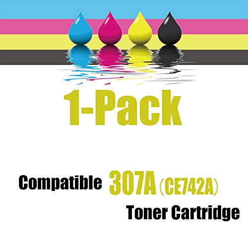 Kolasels Compatible Toner Cartridge (1-Pack, Yellow) Replacement for HP 307A CE742A Toner to use with Color Laserjet CP5200 CP5225 CP5225dn CP5225n CP5220 Printer (High Yield) Photo #4