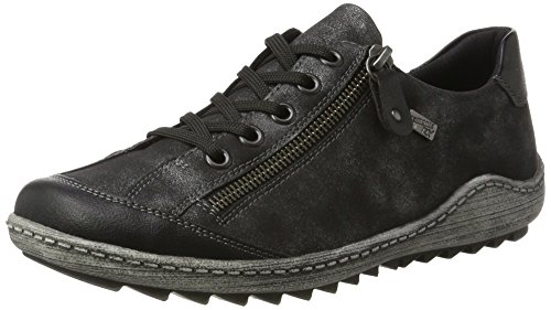 Remonte Damen R1402 Sneaker, Schwarz (Schwarz/Graphit 02), 44 EU
