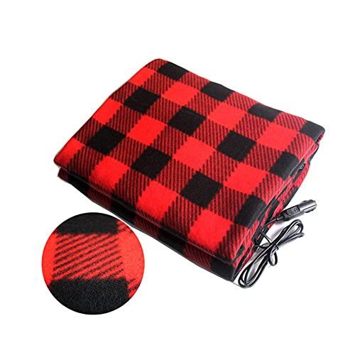 ATING Manta de calefacción eléctrica eléctrica 12 V calefacción suave manta de viaje coche camión manta manta manta caravana camping se puede utilizar para el hogar oficina cama sofá
