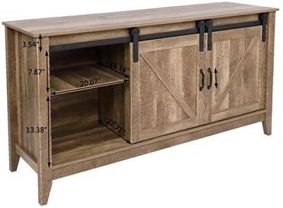 Discount is also underway Max 48% OFF WZCUICAN Industrial Style Wooden Universal TV Barn Door Cabinet