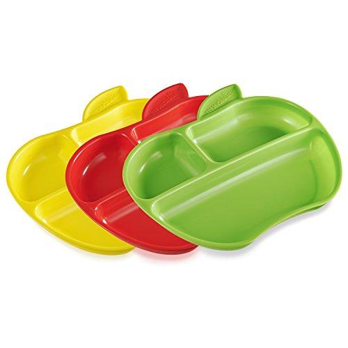 Plates - Munchkin - Lil' Apple Green, Red & Yellow 3Pcs New 43718
