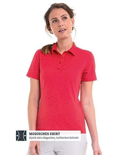 Schöffel Capri1 Poloshirt voor dames, comfortabel en getailleerd poloshirt voor dames, ademend functioneel shirt met Moisture Transport System