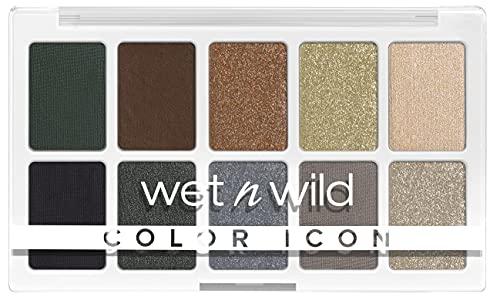 Wet n Wild Paleta Color Icon 10-Pan, Paleta de Sombras de Ojos, 10 Colores Intensamente Pigmentados para El Maquillaje Diario, Fórmula de Larga Duración y Fácil de Difuminar, Lights Off 630 g