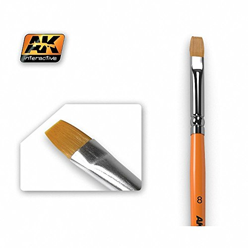 AK Interactive Brushes - Synthetic Flat 8 # 00608