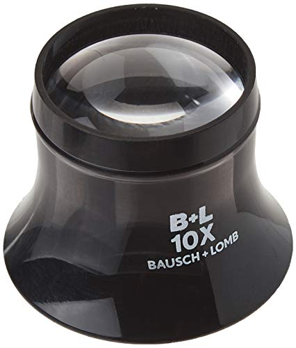 Loupe by Bausch & Lomb, 10x Watchmaker Loupe, Sight Savers, Black