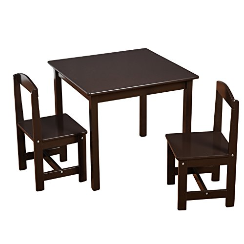 3pc Madeline Kids Table and Chairs Set Espresso - Target Marketing Services