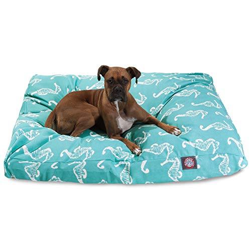 Teal Seahorse Pet Bed