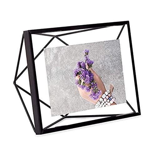 UMBRA Prisma Cadre photo filaire en métal entre deux-verres Prisma, poser ou à accrocher, Pour 1 photo 10x15cm Noir
