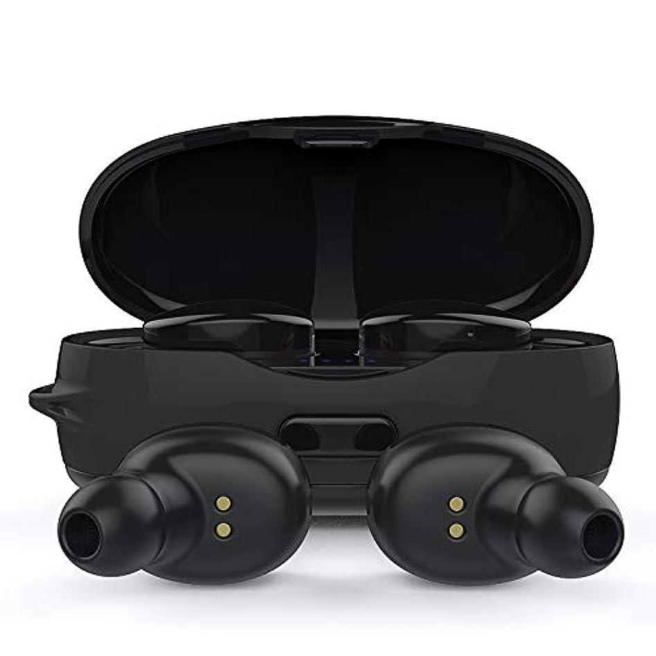 失礼な無限右スポーツ用Bluetoothイヤホン、タッチコントロール/ IPX6 /ステレオサウンド、耳付きBluetoothヘッドフォン、TrueワイヤレスBluetoothイヤフォン(マイク付き)