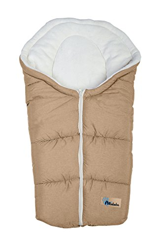 Altabebe AL2009P-43 Winterfußsack Alpin Collection für Babyschale, hellbraun / whitewash
