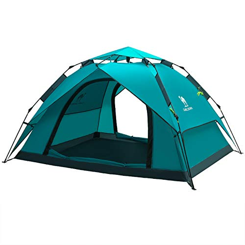 Ziyi Blow Up Tent,camping Tent,Outdoor Spring-loaded Padded Waterproof Tent,windproof And Splashproof,ventilated And Breathable,double Doors And Four Windows