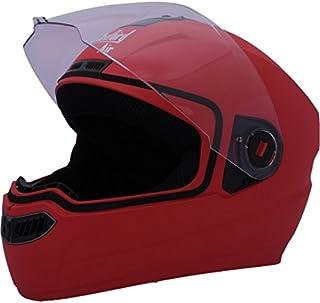 Steelbird Air SBA-1 Classic Full Face Helmet with Plain Visor (Medium 580MM, Red)