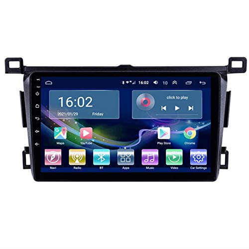 TIANDAO Android Autoradio Radio Doble DIN Sat Nav 2.5D Pantalla táctil Navegador GPS FM Am Reproductor de Control del Volante Adecuado para Toyota RAV4 2013-2018(Color:WiFi 2G+32G)