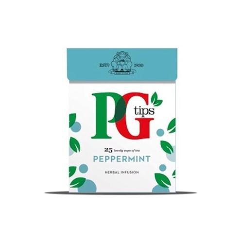 PG Tips Bolsitas de té de Menta Envuelta Ref 49095601 Paquete de 25 140129