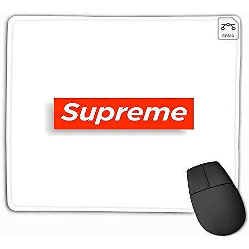 Glad oppervlak Muis Mat, Mousepad Niet Slip Rubber Gepersonaliseerde Unieke Gaming Mouse Pad 25X30Cm Supreme Design Print Social Media Blog Content Verjaardagskaart Uitnodiging Video Cover
