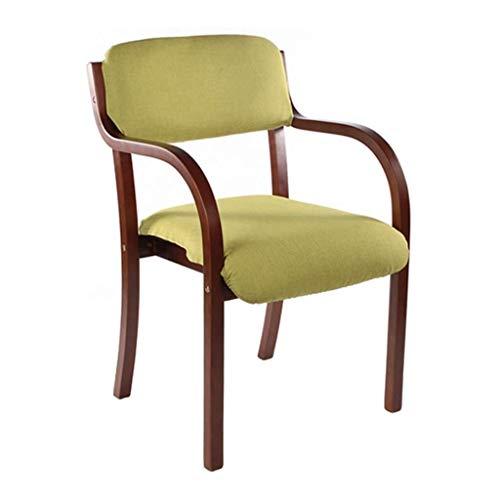 JJSFJH689 Cocina Moderna contemporánea sillas de Comedor de Alta resiliencia del Amortiguador de Esponja con apoyabrazos y Respaldo, Patas de Madera Natural, Antideslizante Almohadilla de la Pata