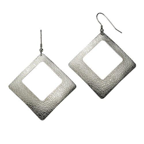 ZEEme - Orecchini pendenti da donna, acciaio inossidabile, 72 mm, cod. 389030032