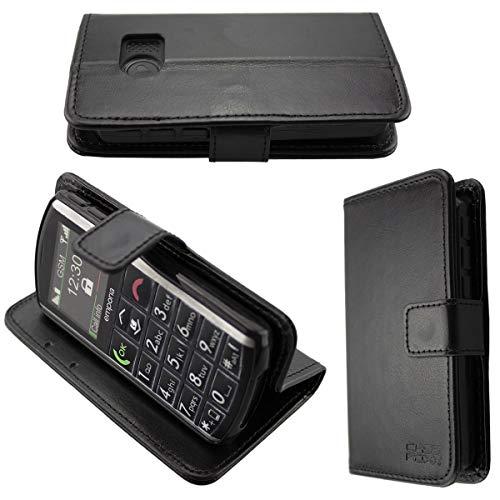 caseroxx Handy Hülle Tasche kompatibel mit Emporia Pure V25 Bookstyle-Hülle Wallet Hülle in schwarz