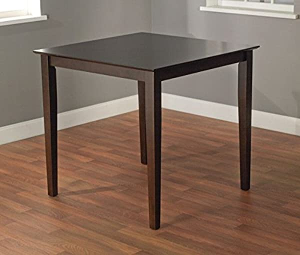 Target Marketing Systems The Foley Collection Contemporary Style Counter Height Kitchen Dining Table Espresso