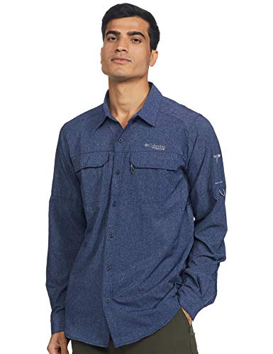 Columbia Irico Chemise à Manches Longues pour Homme XL Bleu Marine