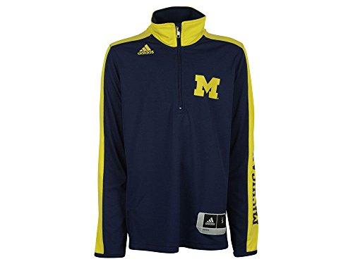 Michigan Wolverines Youth On-Court - Camiseta de manga larga para jóvenes (talla XL), color azul marino
