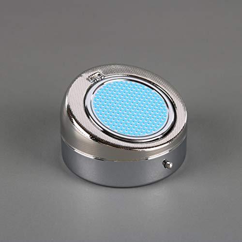 XMYNB Cenicero de bolsillo con funda portátil para coche, cenicero sin humo, cenicero de metal, mini cenicero portátil para fumadores, oficina, hogar, azul