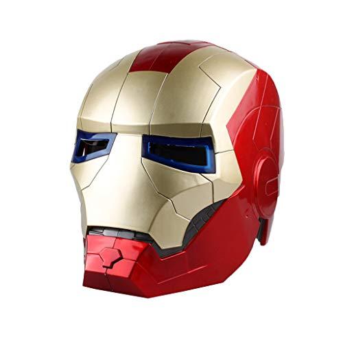 QWEASZER Avengers Marvel Legends Iron Man Casco Movie Legends Series Cosplay Mask - Perfetto per Carnevale e Halloween - Accessori per Adulti - ABS, Unisex,Iron Man-OneSize