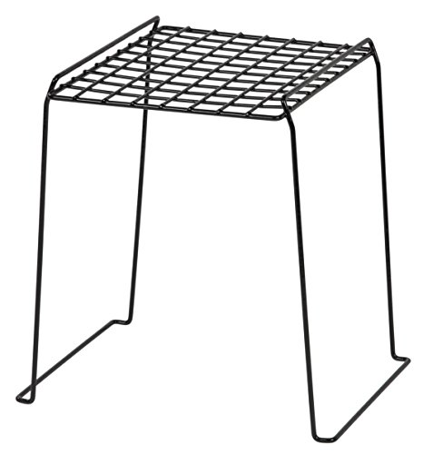 IRIS 12-inch Stackable Wire Locker Shelf, Black