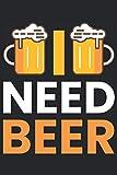 Notebook: birra, bevitori di birra, birreria all'aperto, luppolo,: 120 pagine foderate - notebook, bookbook, diario, per fare lista, libro di registrazione, piano, organizza e nota.