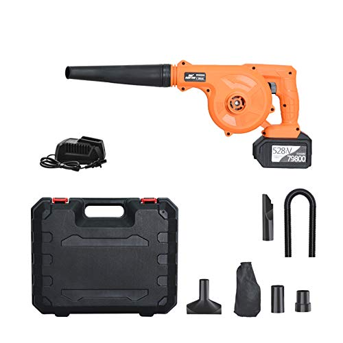 TELAM 2-in-1 Portable Cordless Leaf Blower 21V Lithium Battery Car dust collector for Blowing Leaf, Clearing Dust and Small Trash for House, Garden, Garage and Auto