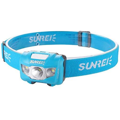 Sunree Stirnlampe Youdo 2s für Klettern, Wandern, Laufen 190 Lumen, wasserfest und temperaturbeständig