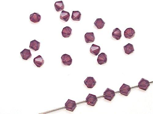 50 Swarovski® Perlen Bicone 4 mm cyclamen opal SW39