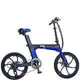 KNFBOK Bici elettrica ebike Pieghevole Bicicletta elettrica Batteria al Litio Batteria Auto Viaggio Adulto Bicicletta Ultra Leggero Portatile brasatura al Carbonio Display LCD Intelligente