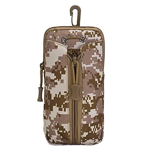 ACEXIER Tactical Molle Bolsa de soporte para botella de agua Bolsa de cintura al aire libre Paquete de teléfono móvil Organizador de engranajes de nailon militar Utilidad EDC Funda