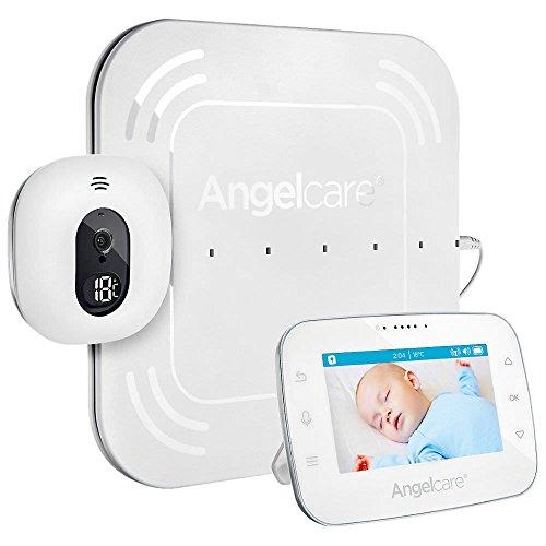 Angelcare A0315-DE0-A1001 - Baby monitor con monitor e monitoraggio del movimento AC315-D / 4,3', colore: Bianco