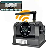 Magnetic Wireless Backup Camera - LASTBUS Rechargeable Magnetic WiFi Backup Camera for Easy Hitching Gooseneck Horse Boat Travel Trailer Fifth Wheels RV Camper for iPhone iPad Android, Easy to Install